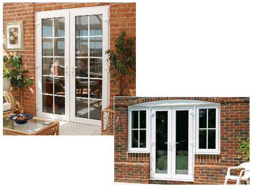 Upvc french doors supplied and installed by jr windows for Wood effect upvc french doors