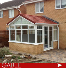 Gable Conservatories with solid warm roof