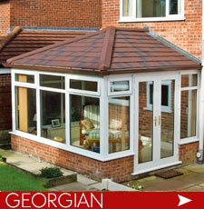 Georgian Conservatories with solid warm roof